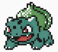 Bulbasaur Pixel Art Stickers by ProjectPixel