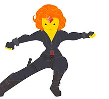 Flame Princess as Black Widow by izzycle