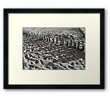 Shadows on the beach Framed Print