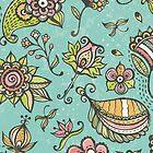 Retro doodle pattern by EV-DA
