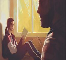The Last Of Us: Ellie & Joel In The Ranchs Bedroom by OliverPShirts
