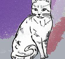 Cute Sitting Cat by raywin