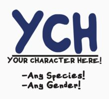 Your Character HERE! -for light shirts- by RainbowRunner