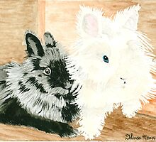 Daily Doodle 22- Together - Lionheads Lola and Vito by ArtbyMinda