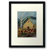 Yellow Barn and Sumac Framed Print