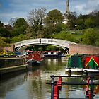 Braunston Marina and Church Spire by Ralph Goldsmith