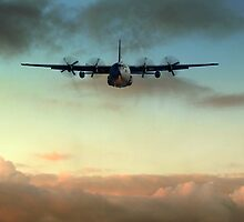 C-130E Inbound by James Biggadike