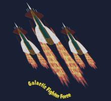 A Galactic Fighter Force on Patrol T-shirt design by Dennis Melling