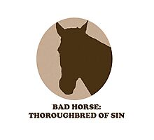 Thoroughbred of Sin Photographic Print