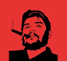 Che Guevara cigar smoking Samsung Galaxy case by CigarInspector