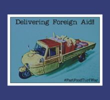 "Delivering ""foreign aid"", from the series #FastFoodTurfWar by Tim Constable by Tim Constable"