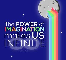 The Power Of Imagination Makes Us Infinite (With Moon) by Xeyph