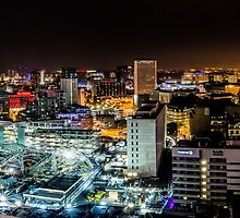 Birmingham Cityscape at Night by Verity Milligan