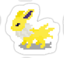 Eevee Evolution Pixel Pokemon Sticker