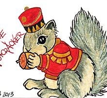 2013 Holiday ATC 22 - The Nutcracker Squirrel by ArtbyMinda