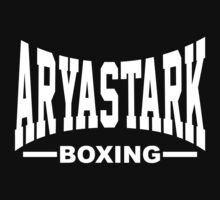 Arya Stark Boxing (Everlast) - white print by Artpunk101