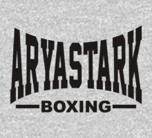 Arya Stark Boxing (Everlast) - Black print by Artpunk101