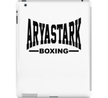Arya Stark Boxing (Everlast) - Black print iPad Case/Skin