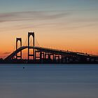Newport Bridge Sunset, Rhode Island by Joshua McDonough