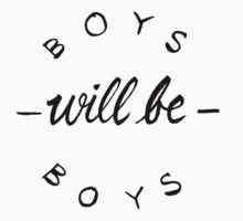Boys will be boys - Dark on light by khaosid