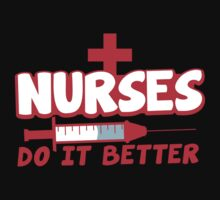 NURSES do it better! with hypodermic needle by jazzydevil