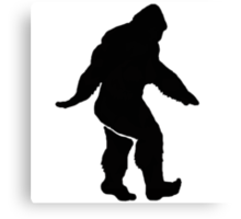 Bigfoot Silhouette  Canvas Print
