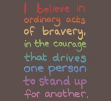 Ordinary Acts of Bravery - Divergent Quote  Kids Clothes