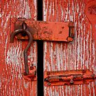 Peeling Paint, Rusty Lock by Rae Tucker