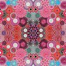 Mirrored Pink Spirograph Artwork by RachelEDesigns