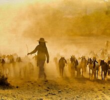 Returning From Pasture 5 by Claude LeTien