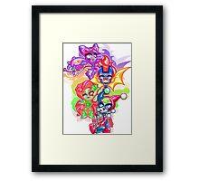 Chibi Gotham Girls Framed Print