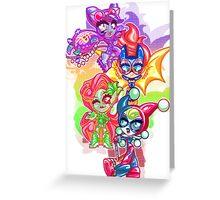 Chibi Gotham Girls Greeting Card