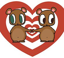 Kawaii Chipmunks in Love by anamana