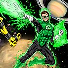 Outer Space Green Lantern by Al Rio by alrioart