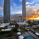 Surfers Paradise Sunrise. Gold Coast, Qld, Australia. by Ralph de Zilva