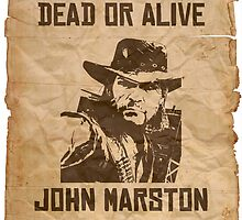 John Marston Dead Or Alive by randomweas
