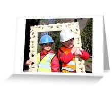 We were Framed! Greeting Card
