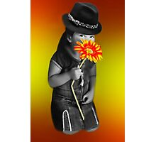 I JUST KNELT TO SMELL THE FLOWERS Photographic Print