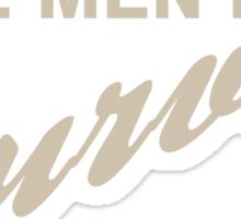 Real Men Have Curves Sticker