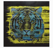 Tiger Face on Wooden Kids Clothes