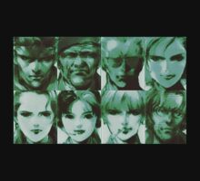 Metal Gear Solid Cast by frangiosa