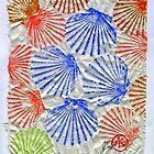 Gyotaku Scallops - Summertime Fun - Shellfish by IslandFishPrint