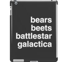 bears, beets, battlestar galactica iPad Case/Skin