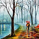 A SHORT STROLL BY THE LAKE by Leonid  Afremov