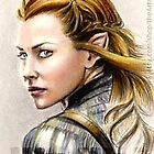 Evangeline Lilly miniature by wu-wei