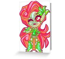 Chibi Poison Ivy Greeting Card
