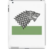 House Stark sigil - Dire Wolf on white and green iPad Case/Skin