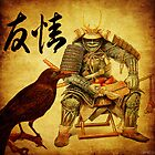The old samurai and his faithful friendly the crow by ganechJoe