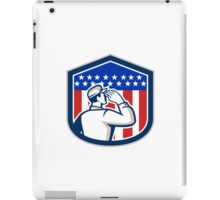 American Soldier Saluting Flag Shield iPad Case/Skin