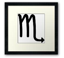 Scorpio - The Scorpion - Astrology Sign Framed Print
